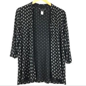 J. Jill 3/4  Sleeve Women Cardigan black size L